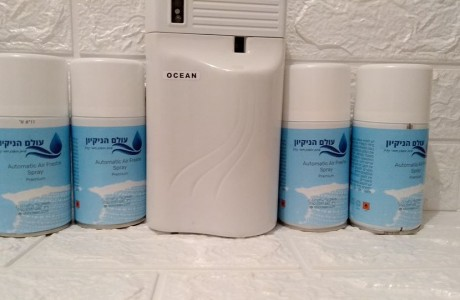 מתקן ריח חיישנים + 4 מיכלי ריח